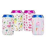 WERNNSAI Puede Refrigerador Manga - Juego de 4 Neopreno Enfriador de latas Cerveza Refresco soda coolies para bodas despedidas de soltera cumpleaños