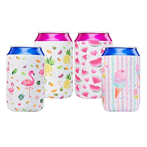 WERNNSAI Dosenkühler - Set von 4 Neoprene Flaschenkühler Bier Soda Getränke für Hochzeiten Brautdusche Geburtstag Bachelorette Partys