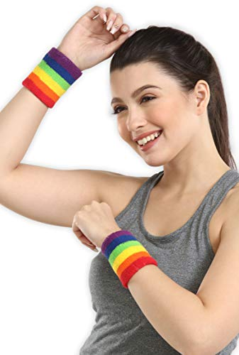 Wrist Sweatbands - Sports Wristbands Sweat Bands for Athletic Men & Women -  Stretchy Cotton Terry Cloth for Working Out, Tennis, Gymnastics,  Basketball, Baseball, Football, Running & Gym Exercise- Buy Online in