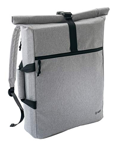 SIGEL MI301 Office Rucksack / Laptop Tasche, grau, 50x40x4 cm, für Office Box S der Serie Move it