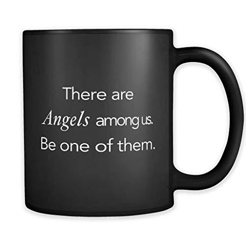 DKISEE Angels Among Us - Taza con diseño de ángeles, regalo religioso, regalo religioso, taza cristiana, regalo cristiano, regalo de Jesús #a167