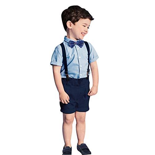K-youth Ropa Bebé Conjuntos de Ropa para Niños, Niño Verano Conjunto Bebe Niño Ropa Bebe Recien Nacido Niño Trajes Blazers Camisa Mangas Corta Tops Infantil T Shirt Pantalones Cortos Corbata de Lazo