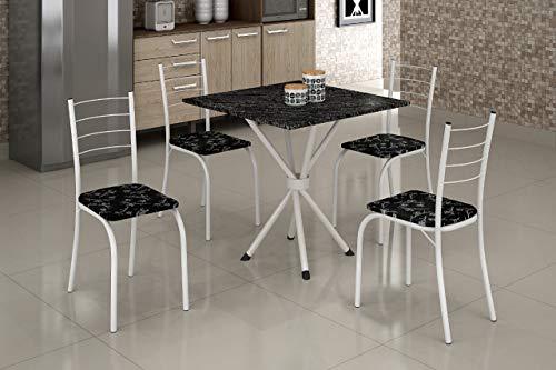 Mesa com 4 Cadeiras Ipanema Teixeira Branca