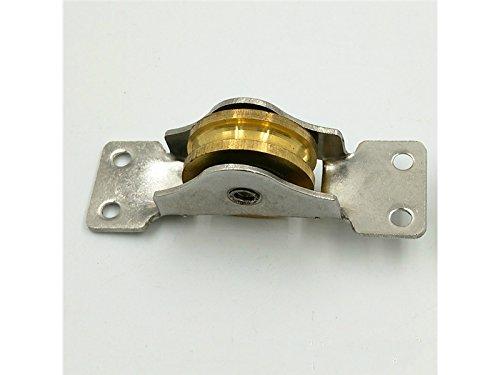 SHORT - Polea de doble rodamiento para puerta corredera, rueda de puerta corredera (latón): Amazon.es: Bricolaje y herramientas