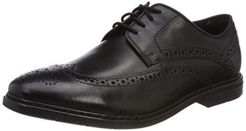Clarks Men's Banbury Limit Black Leather Formal Shoes-8 UK...