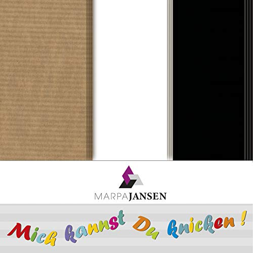 Faltblätter sortiert - Origamipapier - schwarz, weiß, braun gerippt - (15 x 15 cm, 32 Bogen, 80 g/m²)