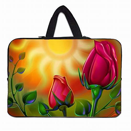 YNLRY Stylish Women's Handle Bag Laptop Sleeve 10 12 13' 11.6 14 15 15.4 15.6 17 Funda Portatil Bolsas Neoprene Chromebook Pouch Case (Color : H020, Size : 10 inch)