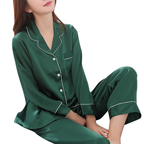 Pijama de seda de dos piezas para Las mujeres