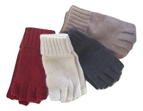 Fingerloser Angora Strickhandschuh, Woll Handschuh ohne Finger, Handschuh für das Handy, Wolle/Angora, Touchscreen