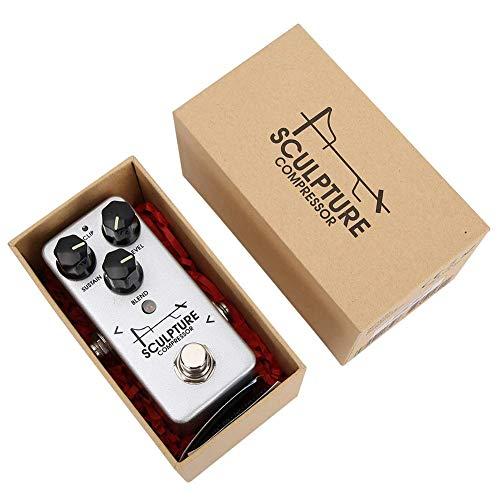 DGHJK Efecto Compresor, Indicador LED Efector 2 Modos De Bypass Seleccionables Interruptor De Ruido Libre del Pedal De La Aleación De Aluminio Adecuado para Diferentes Tipos De Guitarras Eléctricas