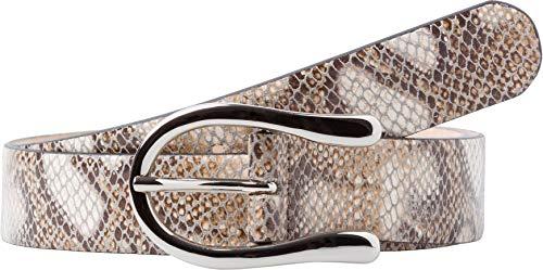 BRAX Damen Style Ledergürtel Snake Gürtel, Grau ( GREY ) , 100