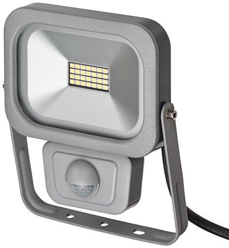 Brennenstuhl Slim LED Strahler / LED-Strahler außen mit Bewegungsmelder (Strahler zur Wandmontage, IP54, LED-Fluter 10W)