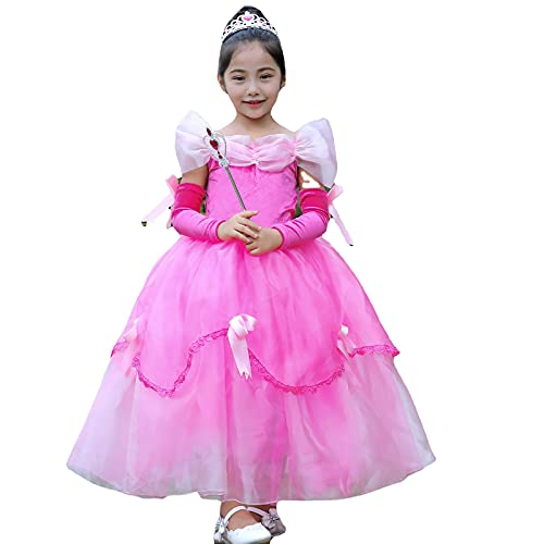 Disfraz para niños, (Solo falda y mangas)vestidos de disfraces de princesa, vestidos de fiesta, vestidos de princesa para niña, con volantes en capas , de 2 a 13 años