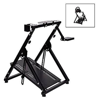 "Marada Racing Wheel Stand ""X"" FRAME Compatible for G29 G920 T300RS T150 Racing Simulator Steering Wheel Stand Pro Wheel Pedals NOT Included"