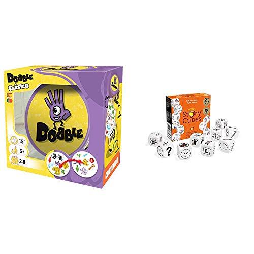 Asmodee Dobble Español, (57) + Story Cubes: Clásico Todas Las Versiones Disponibles, Multilenguaje (STO01ML)