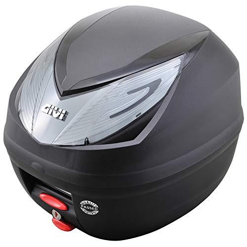 GIVI (ジビ) バイク用 リアボックス 25L 未塗装ブラック スモークレンズ モノロックケース WILDCAT E250N2 90596