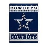 The Northwest Company Officially LicensedNFL Dallas Cowboys '12th Man' Plush Raschel Throw Blanket, 60' x 80', Multi Color