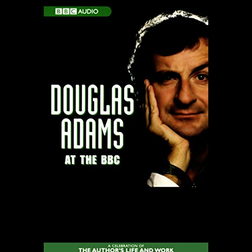 Douglas Adams at the BBC audiobook cover art
