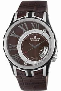 Edox Men's 82007 357BR BRIN Grand Ocean Brown Automatic Watch image
