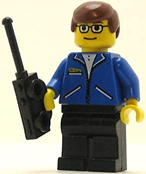 Lego Spider-Man Minifigure  Peter Parker with Yellow Face and 2-Way Radio