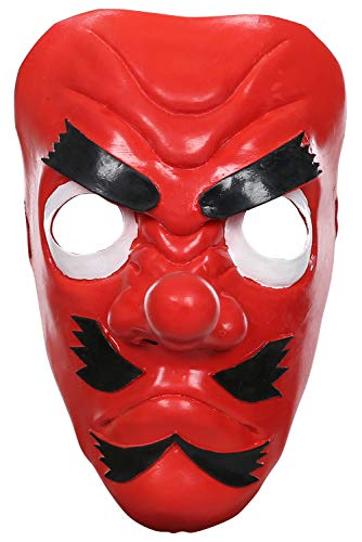 Bilicos Kimetsu Demon Urokodaki Sakonji Tengu halbes Gesicht Latex Maske Kopfbedeckung Gesichtsmaske Cosplay Props Requisiten Rot