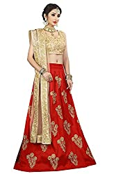 Corri Fashion Womens Tafeta Silk Lehenga Choli(Free Size)