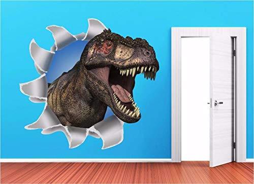 Wandaufkleber Dinosaur Ripped Wall Kids 3D Wall Art Sticker Decal Full Colour Print P2X