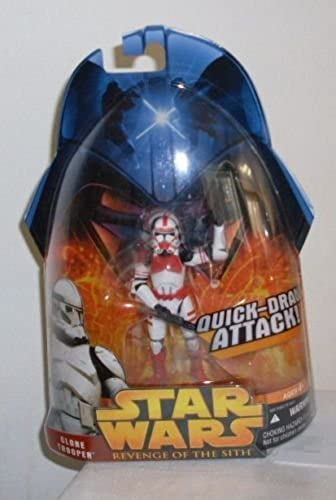 STAR WARS EPISODE 3 rougeS  CLONE  6 rouge SHOCK TROOPER by Hasbro