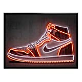 Künstler Poster Mielu - Nike Schuh Neon Sneaker 40x30cm