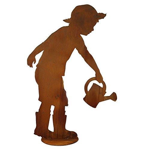 Saremo Rost Figur Gärtner Till mit Gießkanne auf Platte, H ca. 98 cm | SA-TiLLP | 4260353198526