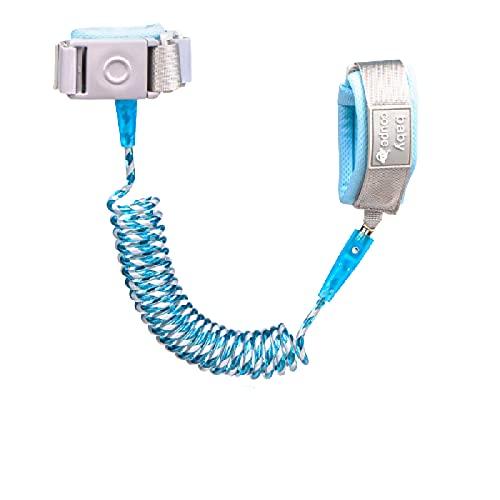 Cuerda antipérdida de inducción para niños y correa antipérdida, cierre de inducción, color azul Tiffany 2 m