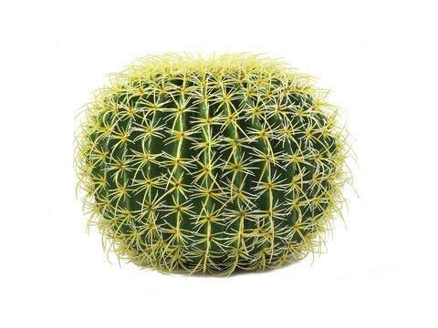 artplants.de Asiento de Suegra Artificial, Verde-Amarillo, 35cm - Cactus - Planta Artificial