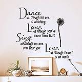 Dance Daisy vinilos decorativos proverbios de poesía ingleses y vinilos decorativos de la sala de...