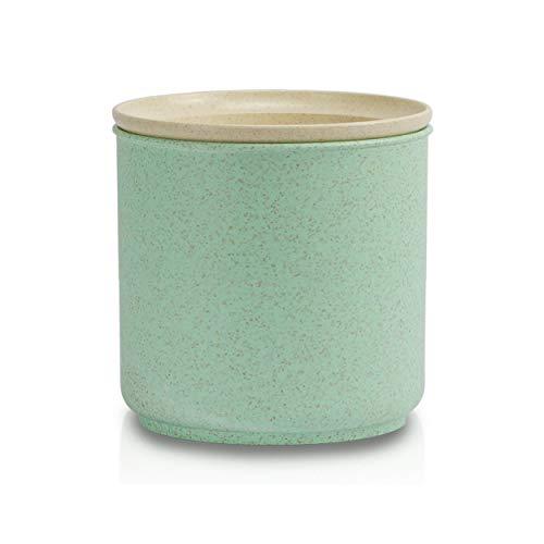 Tàper sostenible – la lata hecha de paja de trigo – Caja eco de almacenamiento sin plástico, perfecta para compras sin embalaje o como fiambrera, 500 ML.