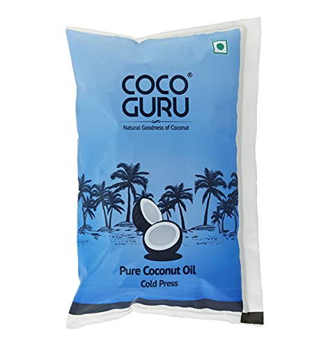 Cocoguru Cold Pressed Coconut Oil - Pouch 1 Litre