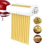 aikeec Rullo per Pasta e Taglierine Set 3-in-1 per Kitchen Aid incluso rullo per sfoglia, taglia spaghetti, tagliafettuccine