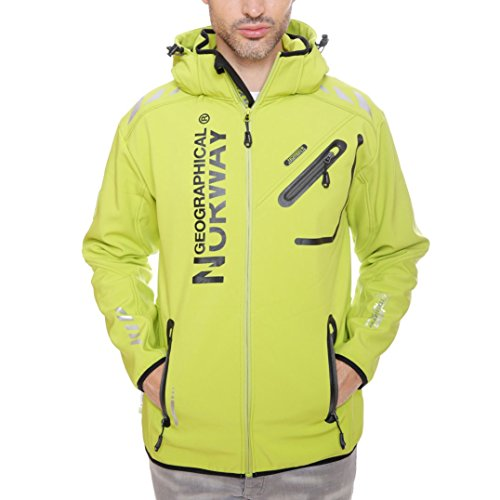 Geographical Norway heren softshell outdoor jas Rainman Turbo-Dry capuchon