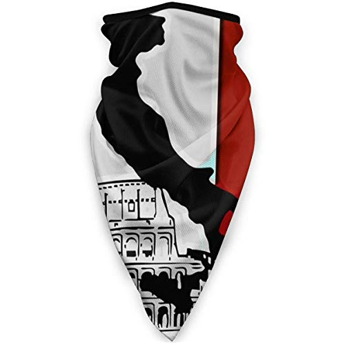 BIT Pisa Tower Italian Flag Multifunctional Headwear Stretchy Seamless Outdoor Neckwear Breathable Face Warmer Wristband for All Year Round