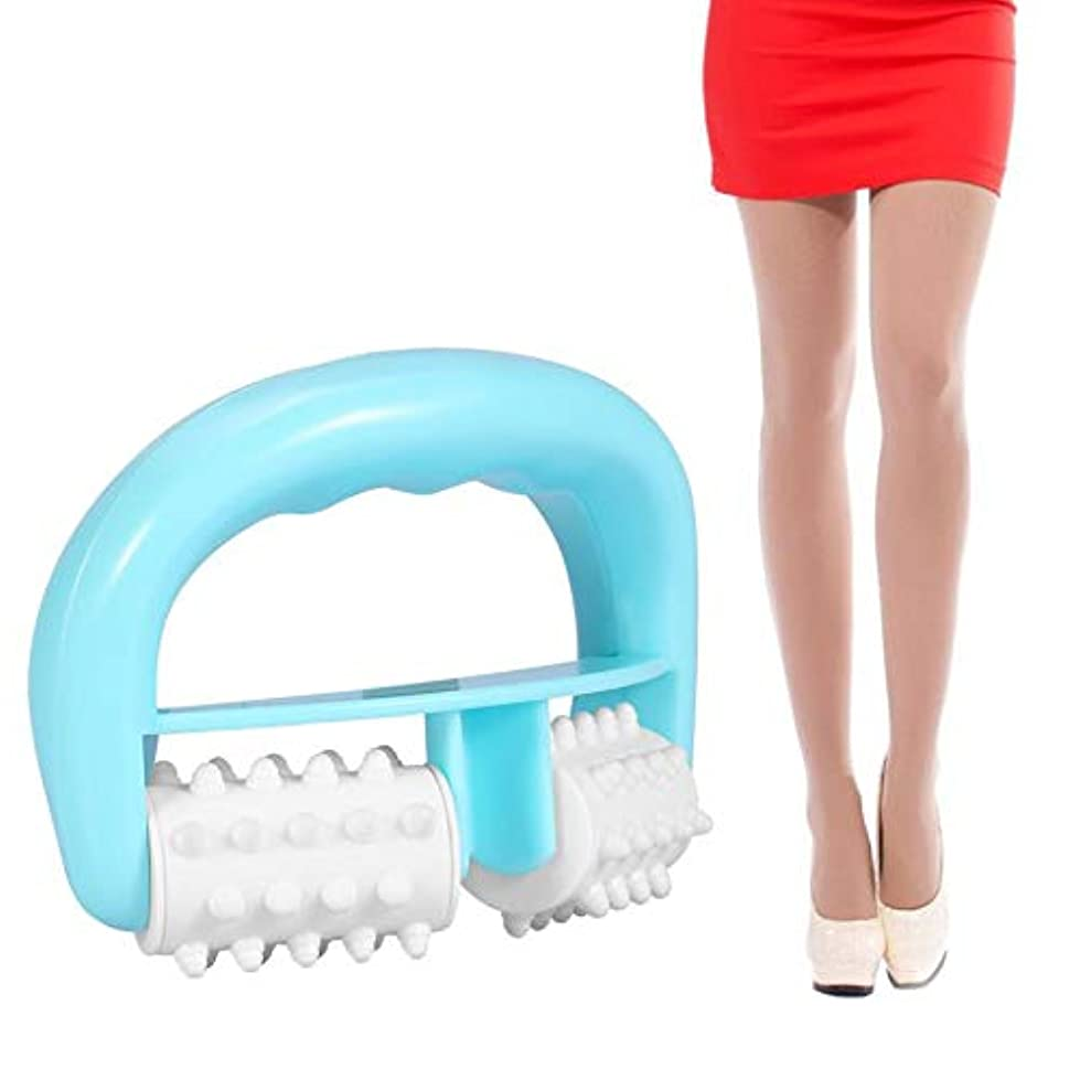 コンパス睡眠セクションHandle Cell Roller Massager Mini Wheel Ball Slimming Body Leg Foot Hand Neck Fat Cellulite Control Pain Relief Roller Massage