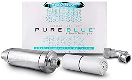 Pure Blue Shower Filter - Silver