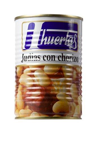 Huertas - Weiße Bohnen mit Paprikawurst - Judias con Chorizo - 415g