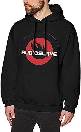 MAichengxuan Sudadera con capucha para hombre, con logotipo de Audioslave para hombre, color negro