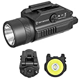 Skywoods 1200 Lumen Compact Pistol Weapon Light for Picatinny MIL-STD-1913 and Glock Pistol Weapon Lights with 2 x CR123A Batteries
