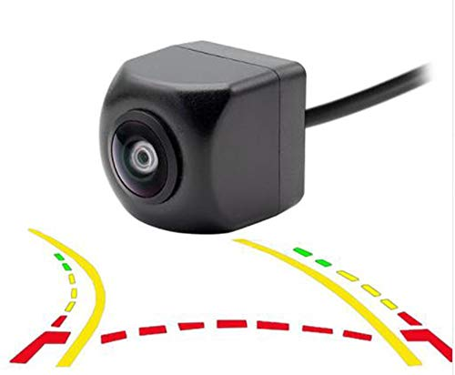 HD Real 180 Degree Angle Fisheye Lens Dynamic Trajectory Parking Line Car Rear View Reverse Backup Camera for Parking Monitor