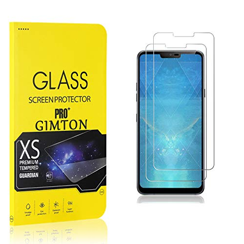 GIMTON Verre Trempé pour LG G7, Ultra Mince Protection en Verre Trempé Écran pour LG G7, Dureté 9H, Haute Transparent, 2 Pièces