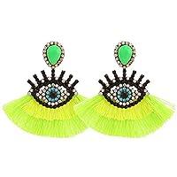 Boho Fashion Dangle Tassel Earrings For Women Geometric Fringed Multicolor Drop Earrings Wedding Party Girl Gifts [並行輸入品]