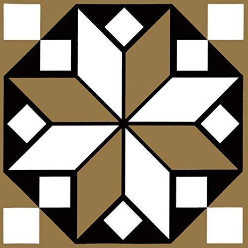 15 unids/Set 8/12/15 cm Tiles de Estilo de Europa Pegatinas de Pared Diagonal Baño Cocina Cintura Línea Línea Arte Mural Tile Vinilo Vinilos de Pared (Color : CZ013, Size : 8CMX8CMX12PCS)