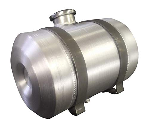 10x14 Center Fill Spun Aluminum Round Gas Tank w/Unpainted Brackets- 4 gallon- 1/2 NPT- Tractor Pull-Rat Rod- Hotrod- Gassers- Sandrail- Dune Buggy- Offroad- Made in USA