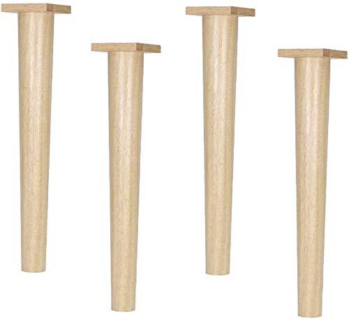 ZKDY Sofa-Beine Tischbein Möbelfüße Möbelfüße * 4 Fuß Tisch Fuß Stuhl Massivholz Füße Dresser Beine gerade Bein Große Größe for Cabinet Schrank Sofa Couch Stuhl, Größe: 56.8cm (22.3in) Möbelbeine