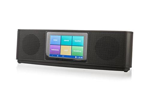 Xoro HMT 200Radio por Internet (10,16cm (4Pulgadas) Pantalla Multi Touch, 2x 8W, Reproductor Multimedia, WiFi, Bluetooth, Spotify, deezer) Negro